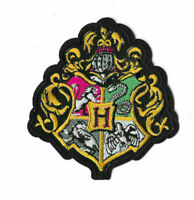 HOGWARTS BLACK CREST Iron on / Sew on Patch Embroidered Badge Harry Potter PT493