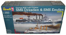 German WWI Light Cruisers SMS Dresden & SMS Emden Models & Free Anchor  Chain