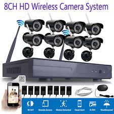 Wireless Security IP Camera System 8CH 1080p WIFI HDMI NVR IR-CUT Night Vision