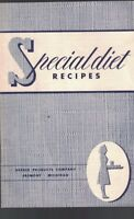 Special Diet Recipes Booklet Gerber Baby Food Products 1949
