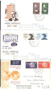 Ireland FDC's, Countess Mankiewicz, J Connolly & Freedom from Hunger.