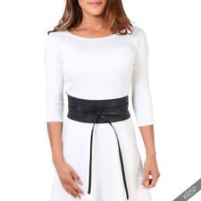 Polyester Solid Wide Belts for Women