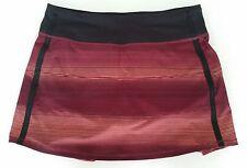 Lululemon Pace Rival Skirt Size 8 Original Sunset Striped Shorts Tennis Golf NWT