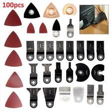 100X Multi Tool Oscillating Saw Blades Cutting Wood Metal Carbon Steel Cutter