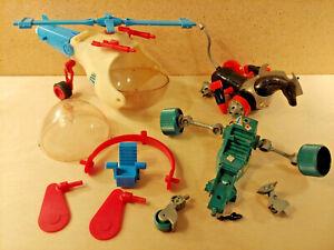 Mego Micronauts Mixed Parts and Repair Lot Andromeda Hydro Copter G. Cruiser