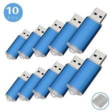 10X 8GB USB 2.0 Flash Drive Memory Stick Rectangle Pen Drive Black/Blue
