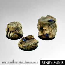 Scribor Miniatures: Egyptian Ruins 25mm round bases (3) - SMM-BREG0035