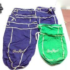Lot of 10 Purple/green Label Crown Royal Bags