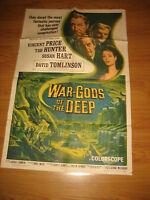 WAR-GODS OF THE DEEP 1sh Original Movie Poster 1965 Vincent Price