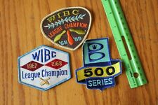 3 Bowling jacket patches Vintage 1967 1968 1969 WIBC League champion 500 series
