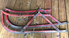 """Antique Authentic 2 Horse Drawn Sleigh Sled Runners Carriage, Bob Sled 44"""" X 15"""""""