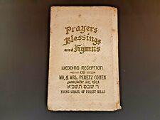 Jewish Judaica Rabbi Book Prayers Blessings Hebrew & English 1961