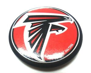 """ATLANTA FALCONS BUTTON PIN 2"""" ROUND NEW NFL FOOTBALL OFFICALLY LICENSED"""