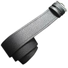 Grained 100% Genuine Black Leather Scottish Kilt Belt - Made in Scotland