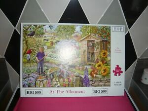 500 big piece jigsaw puzzle hop at the allotment