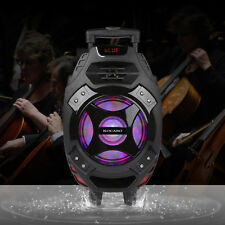 """Portable 18"""" Rechargable Bluetooth Party Speaker DJ/PA System with LED Lights"""