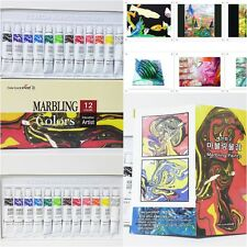 Yejeon  Water Vivid Marbling Paint 12 Colors Tube Set   12 ml  Marble kit