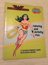 VINTAGE 1984 SUPER POWERS Wonder Woman Coloring Activity Book Kenner