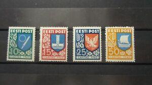 Estonia. 1940. Michel 152-155 (complete set). MNH. Cat. price 35 Euro