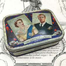 Scatola Lamiera Litografata Queen Elisabeth Waller & Hartley Vintage Box 1953