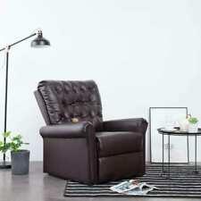 vidaXL Massagesessel Heizfunktion Braun TV Sessel Fernsehsessel Relaxsessel