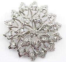 Superb Bridal Wedding Brooch Pin Clear Fancy Austrian Rhinestone Crystal