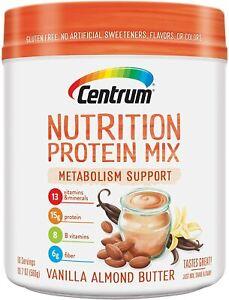 Centrum®Nutrition Proten Mix, Vanilla Almond Butter Flavor Metabolism Support