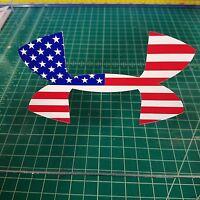 Under Armour American Flag Decal Sticker Shirt