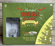 New ListingElectrified Bubble 7 Lamps Christmas Lighting Clear Indoor Use
