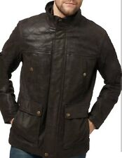 BARNEY'S Original Collection Real Leather Jacket DARK Brown medium. NEW