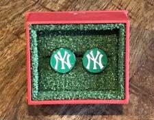 St. Patricks Day Green With Mlb Box Mlb New York Yankees Cufflinks Nwt Rare