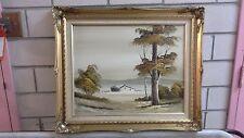 Vintage Original Oil, Unk Artist, Untitled Landscape Outback Shed, Signed LRHS