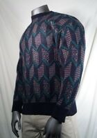 Vtg Pendleton Sweater Wool Crew Neck Abstract Men's Size Large