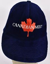 Navy Blue Canadian Mist Logo Embroidered baseball hat cap adjustable snapback