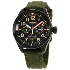 Citizen Chandler Black Dial Canvas Strap Men's Watch BU2055-16E