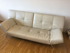 SMALA Ligne Roset Schlafcouch Leder Cremeweiss