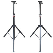 TECHTONGDA Speaker Stand -2pcs/set Adjustable Height Tripod Pair Black 60kg