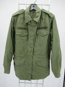I9922 VTG US ARMY Men's Patches Military Field Jacket