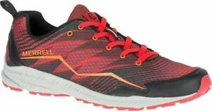 Merrell Trail Crusher Trainers Mens Fired Red Sports Fitness Lace Up Shoe J37753