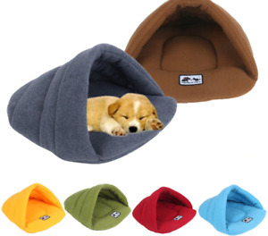 Soft Polar Fleece Dog Beds House for Cats/Dogs Sleeping Bag Pet Nest Cave Bed