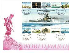 TANZANIA - WORLD WAR II - BATTLE OF JAVA SEA - LARGE SHEET - FDC