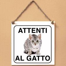Mau egiziano 4 Attenti al gatto Targa gatto cartello ceramic tiles