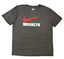 AUTHENTIC NIKE 100% COTTON BROOKLYN GRAY T SHIRT 818495-071