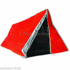 Orange & Silver Mylar Solar Tube Tent - Emergency Survival Camping Shelter Tarp