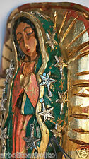 Our Lady of Guadalupe/Virgen de Guadalupe/Mexican Folk Art Wood Sculpture Small