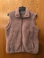NWT Free Country Women's Warm Plush Vest Large ,Color, Woodrose  $70.00
