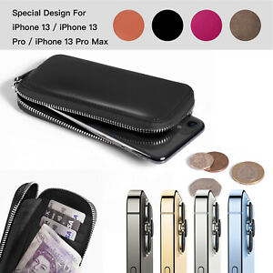 Genuine Leather Cover Phone Case For iPhone 13 12 11 Pro Max XS 8 7 6 Wallet Bag