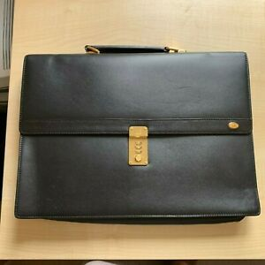 Dunhill briefcase - black. Virtually unused. It was stored without tags