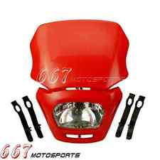 Dirt Bike Motorcycle Universal Vision Headlight Lamp Street Fighter Headlamp Red