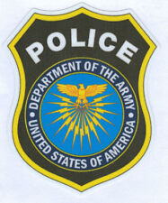 DEPARTMENT OF THE ARMY POLICE BADGE DIE CUT LAMINATED VINYL STICKER 100MM HIGH